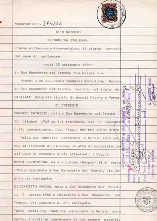 Trovare l 39 atto notarile studio tecnico geom stefani federico - Atto di donazione immobile ...