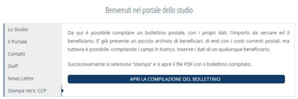 Stampa bollettini Postali online